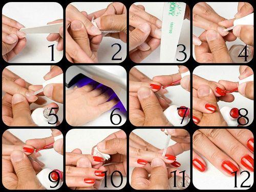 Как правильно наносить шеллак на ногти в домашних условиях видео