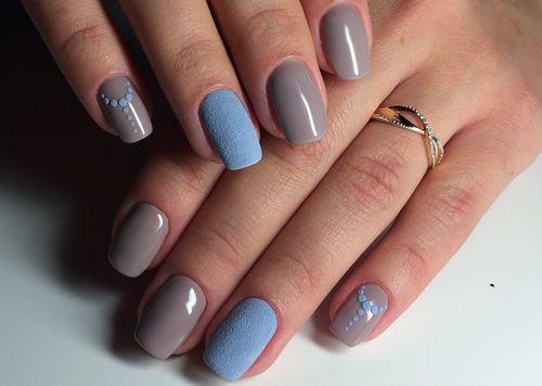 Дизайн ногтей с пудрой на гель лак