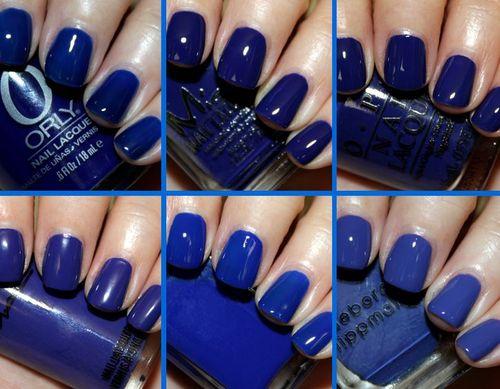 Варианты дизайна ногтей с синим гель-лаком