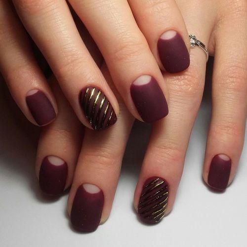 Дизайн ногтей тёмные оттенки