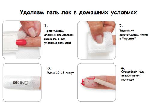 Чем можно стереть с ногтей гель лак