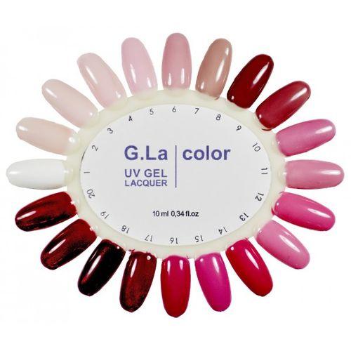20 оттенков гель лака G la color