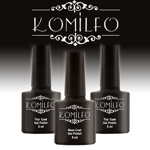 Финишное и базовое покрытие для ногтей Komilfo